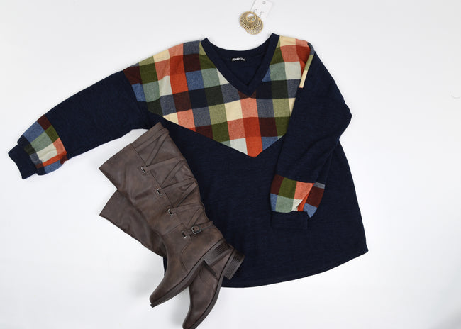 Trend Setter Plaid Top