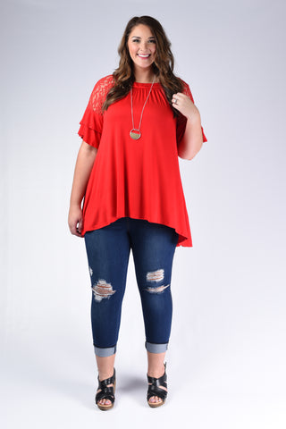 Damask Loose Fit Tunic Top