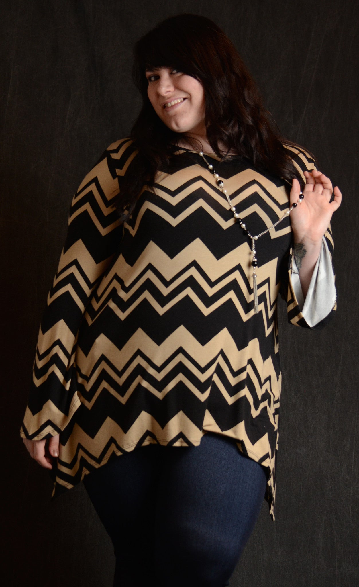 Chevron Wide-Stripe Tunic - More Colors! - www.mycurvystore.com - Curvy Boutique - Plus Size