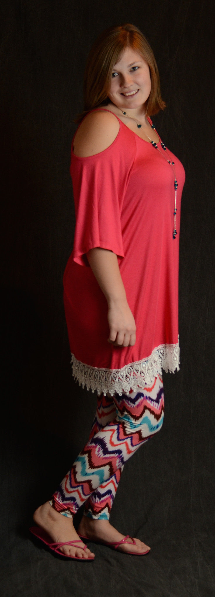 Cold Shoulder Lace Tunic - More Colors - www.mycurvystore.com - Curvy Boutique