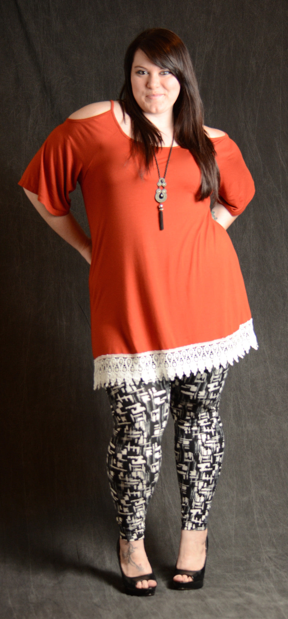 Cold Shoulder Lace Tunic - More Colors - www.mycurvystore.com - Curvy Boutique - Plus Size