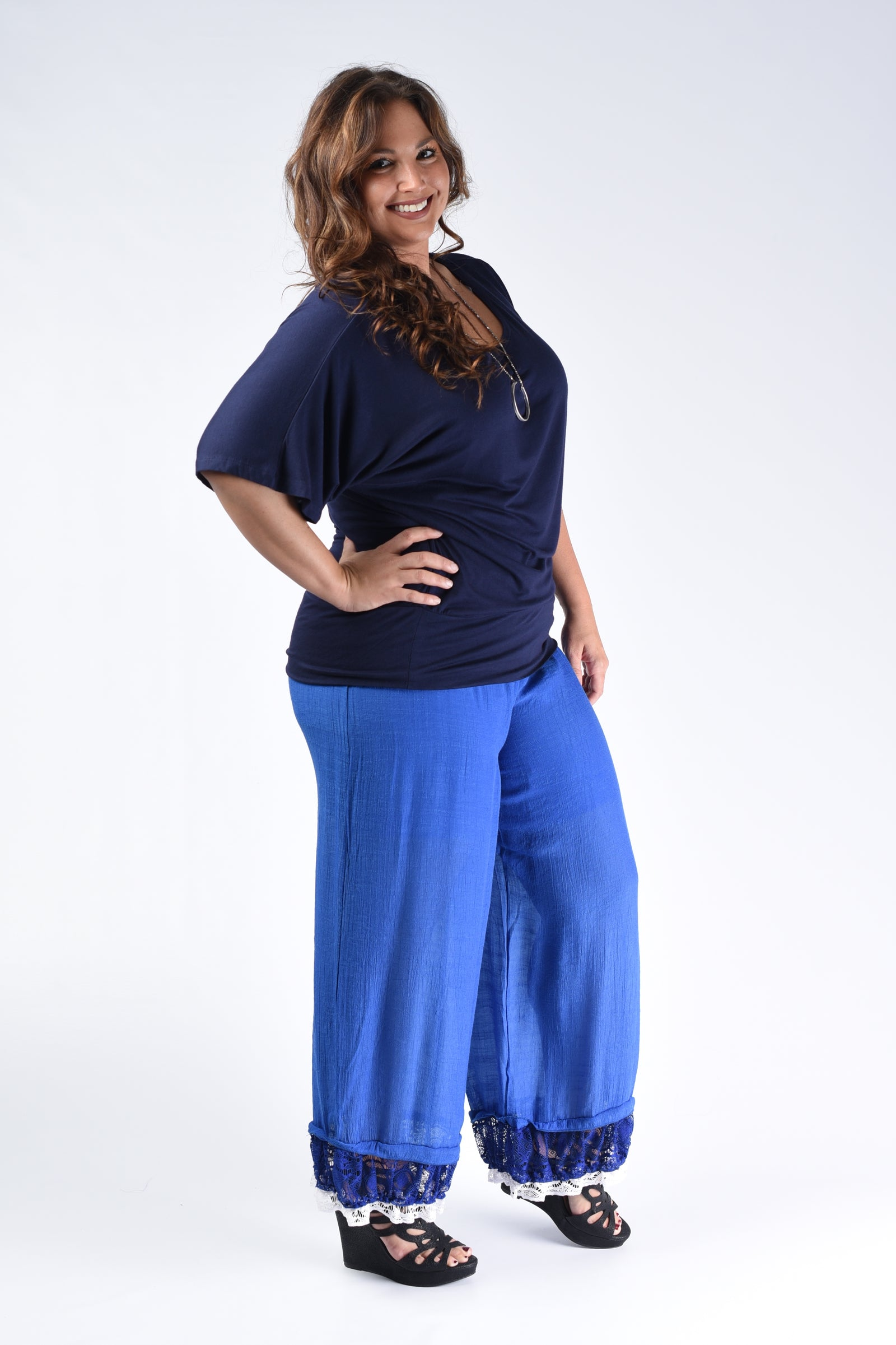Royal Blue Beach Pants - www.mycurvystore.com - Curvy Boutique - Plus Size
