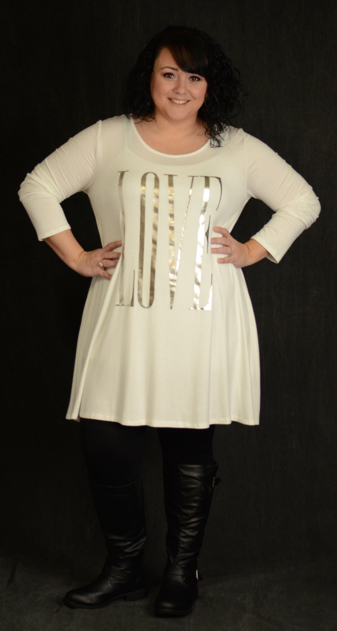 Ivory Love Pocket Dress - www.mycurvystore.com - Curvy Boutique - Plus Size