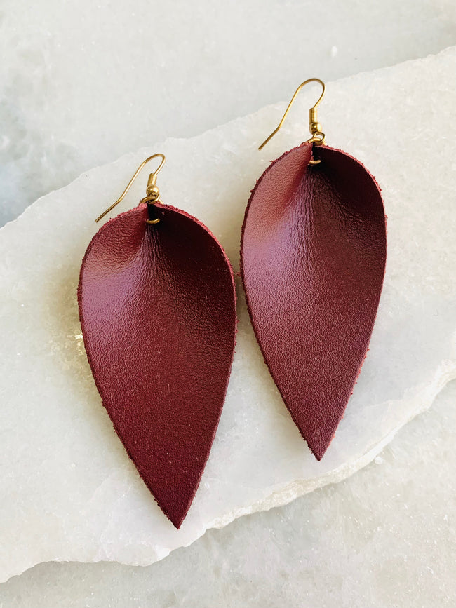 Cranberry Teardrop Earrings