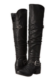 Carlos Santana- Over the Knee Black Boots - Curvy Plus Size Boutique - 1