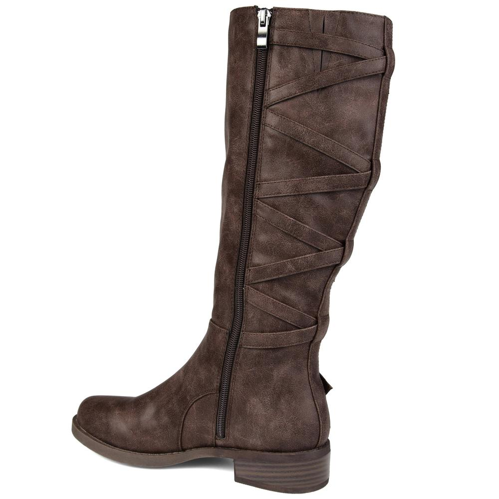 Lauren Boots - Wide Calf - Brown
