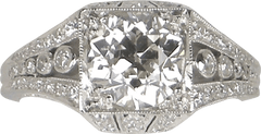 1.59 carat European cut in Edwardian setting