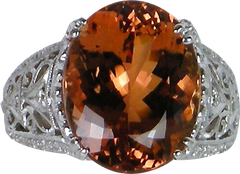 Exquisite Imperial topaz ring