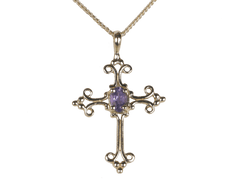 Amethyst cross