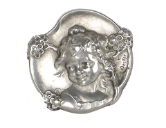Sterling cherub by Decker
