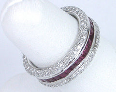 Band of rubies and diamonds
