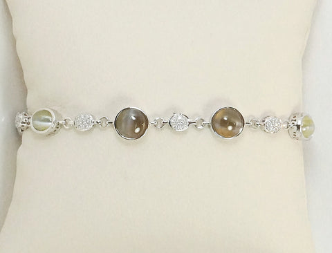 Chrysoberyl cat's eye bracelet