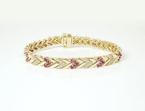 Chevrons of rubies and diamonds