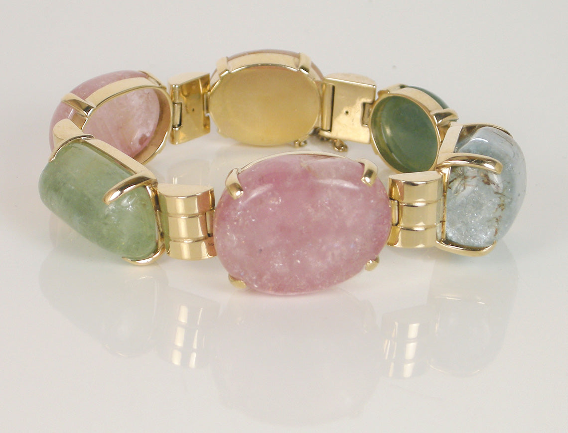 Multi-gem retro bracelet