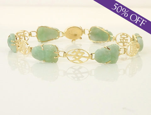 Carved jade bracelet - ORIGINAL PRICE: $425
