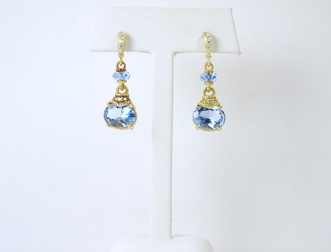 Playful blue topaz dangles