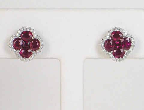 Ruby and diamond earrings by Gregg Ruth