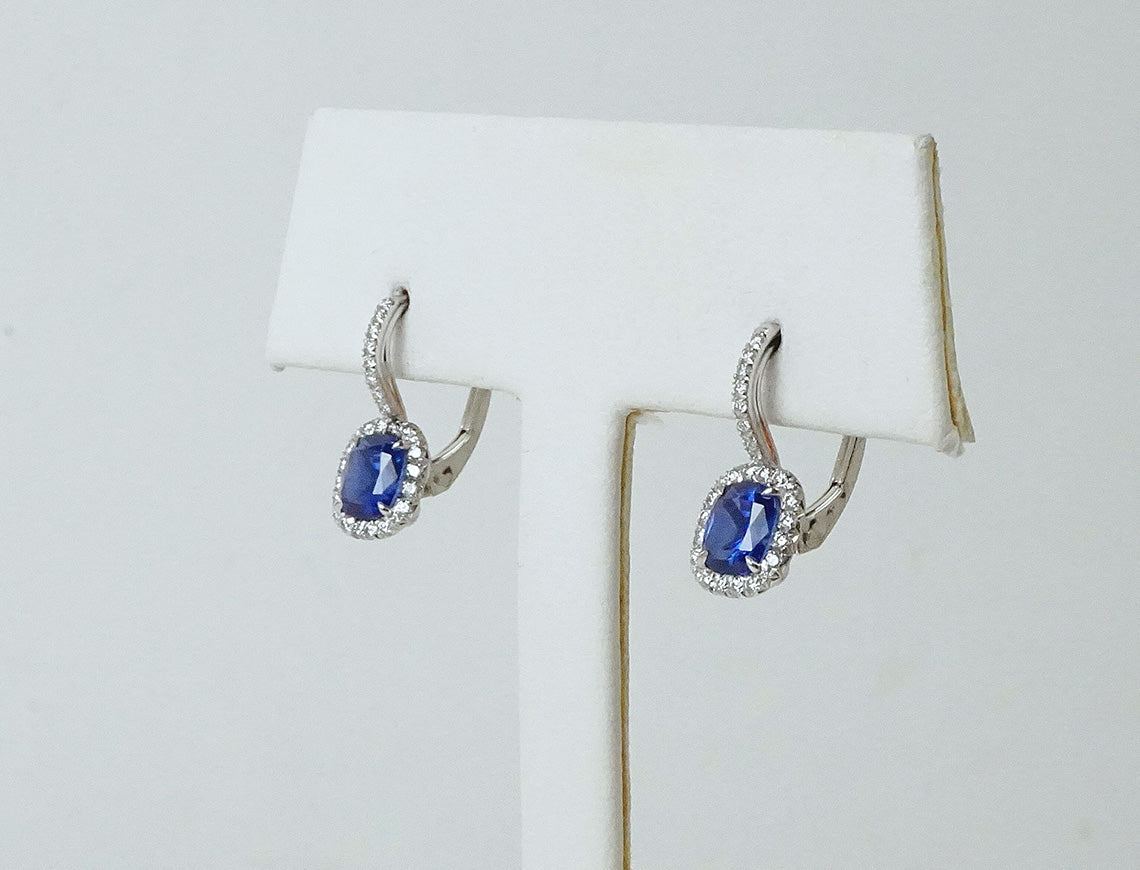 Exquisite sapphire and diamond earrings