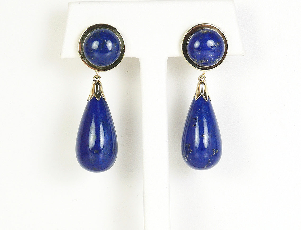 Lapis and gold drops