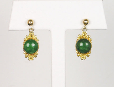 Jadeite dangle earrings