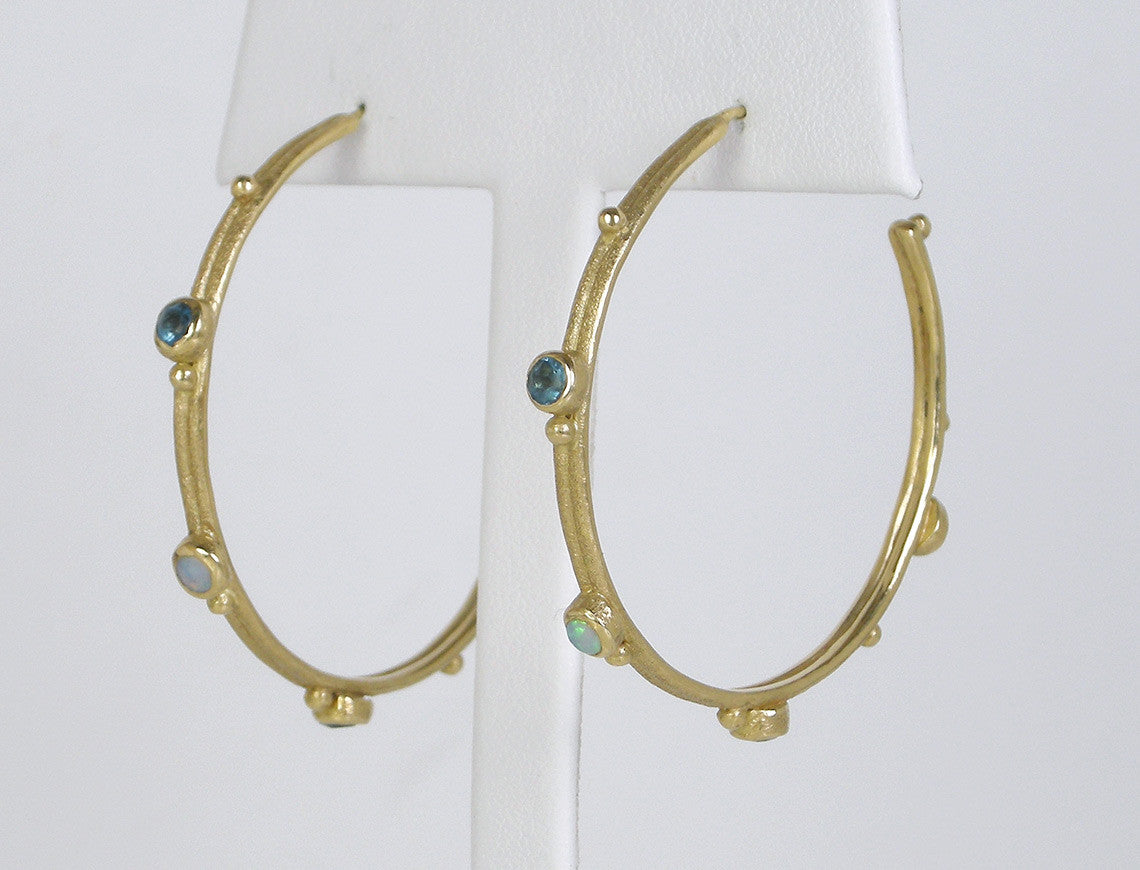 Textured golden hoops