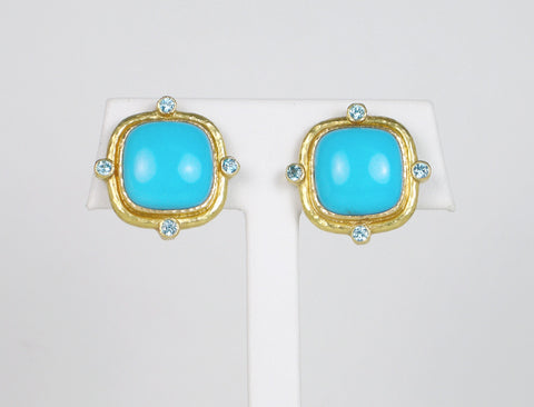 Turquoise earrings by Elizabeth Locke