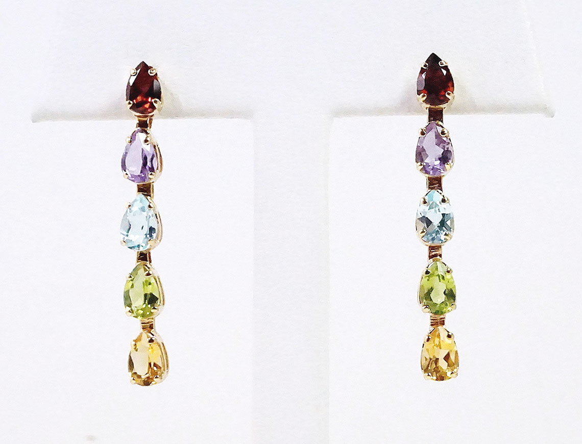 Multicolor gem drops