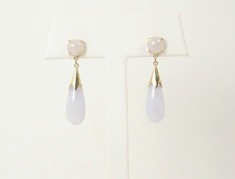 Light lavender jade drops