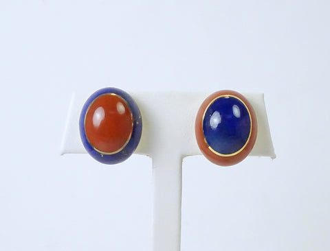 Jasper and lapis earrings by Angela Cummings for Tiffany