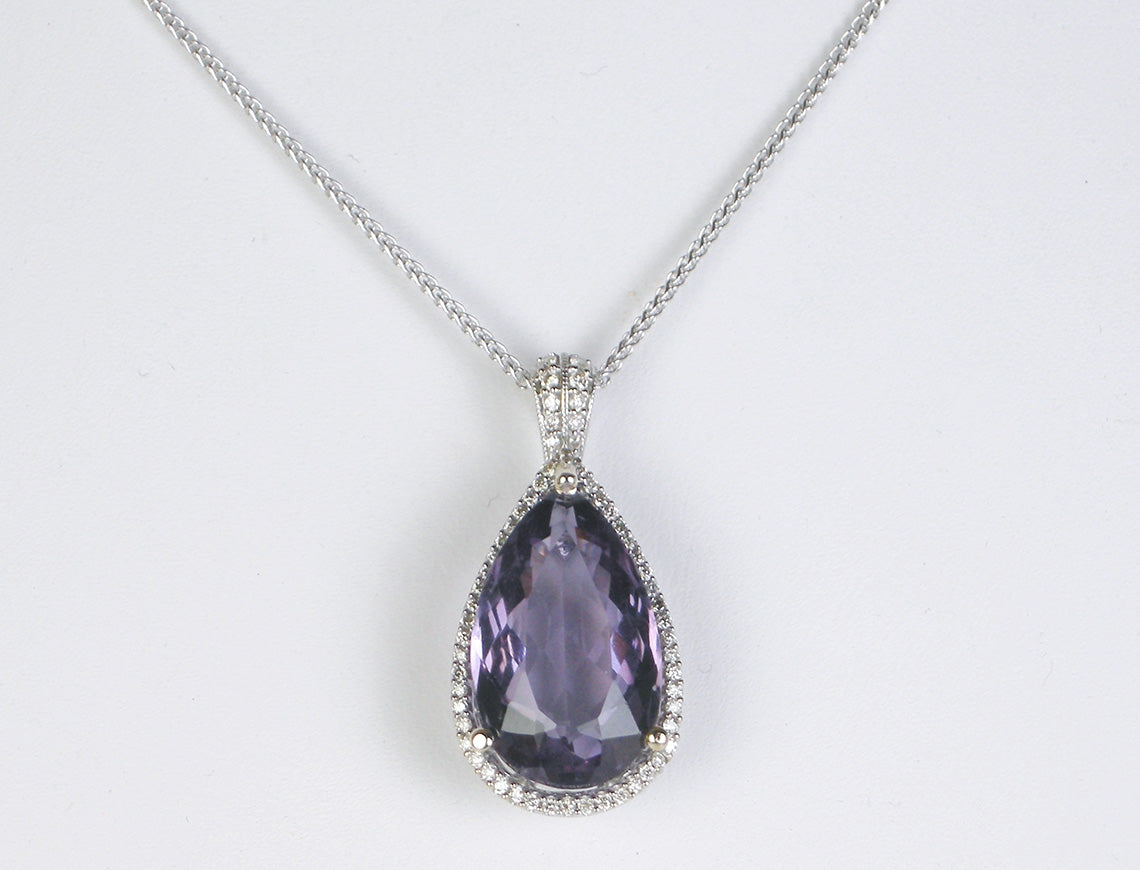 Amethyst and diamonds