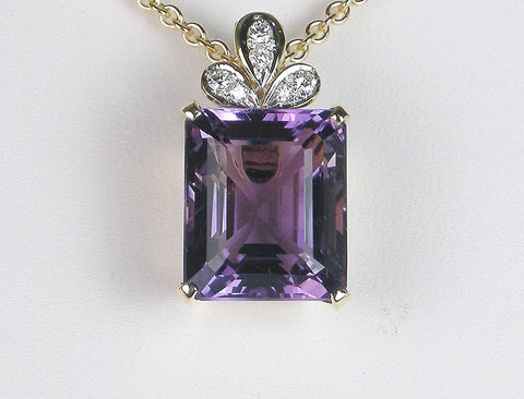 Amethyst and diamond enhancer