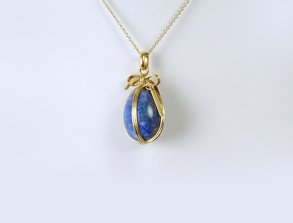 French-made lapis egg