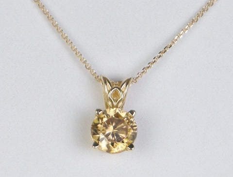 Golden zircon pendant