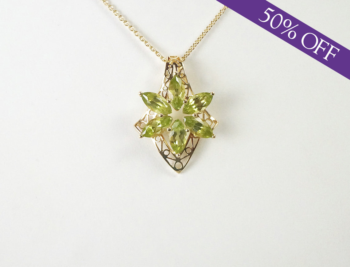 Peridot flower cluster - ORIGINAL PRICE: $185