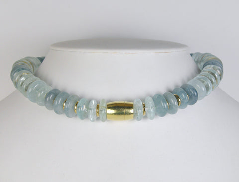 Aquamarine necklace by DeVroomen