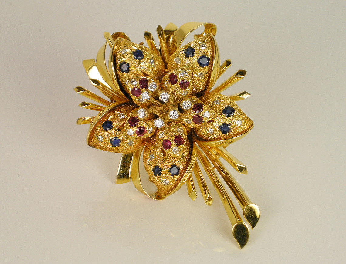 Bold flower brooch