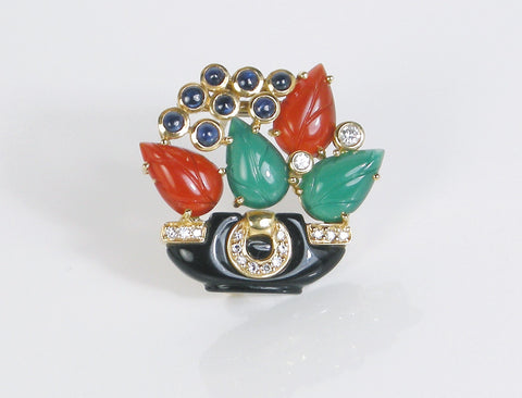 Flower basket brooch by Cartier
