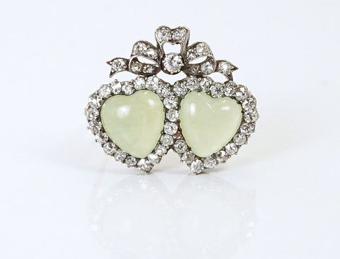 Victorian twin sweetheart pin
