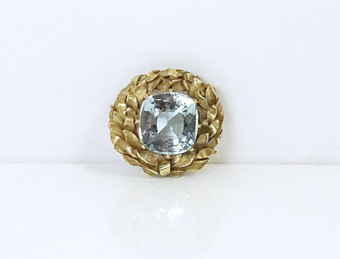Arts and Crafts aquamarine brooch/pendant