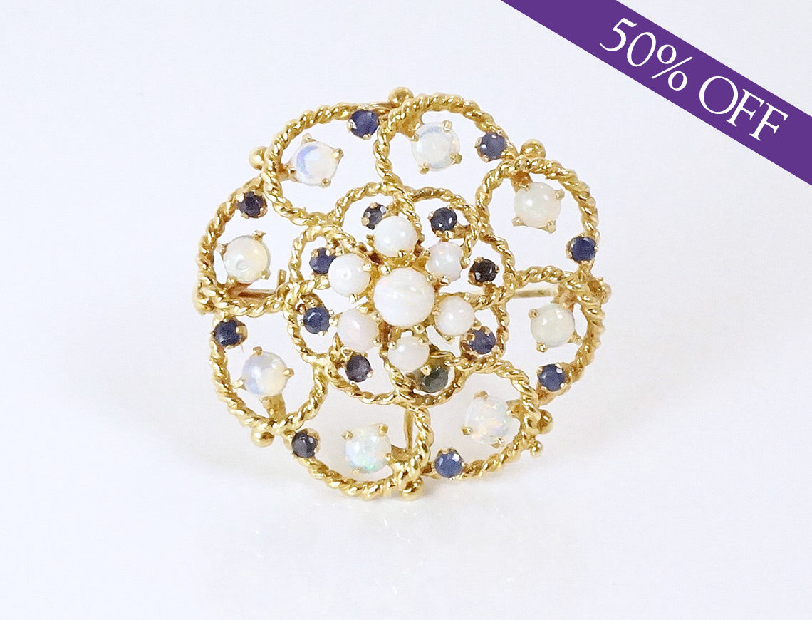 Opal and sapphire pendant/brooch – ORIGINAL PRICE $875