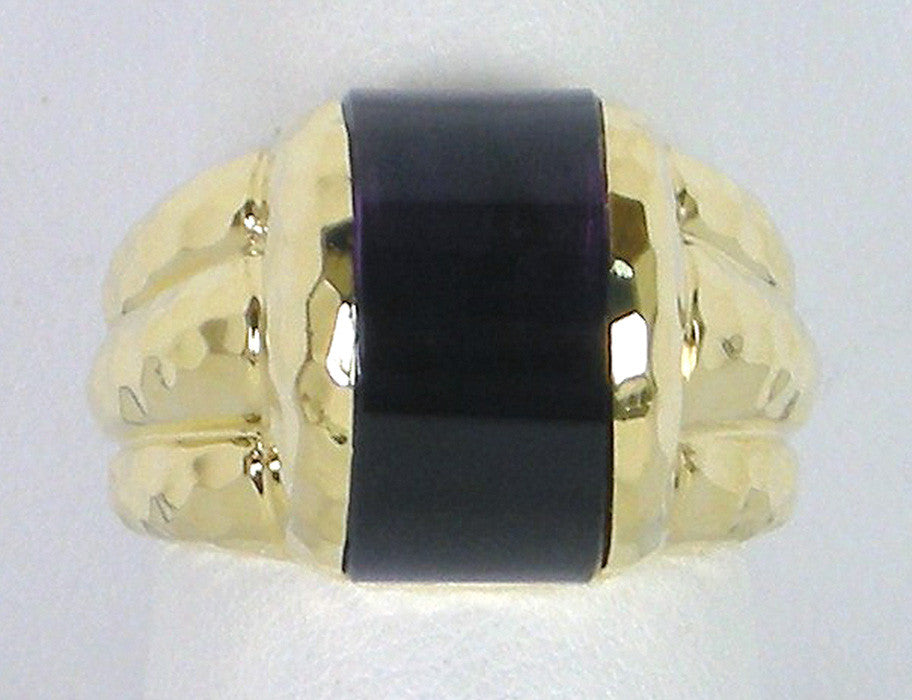 """Crescent"" ring by Henry Dunay"