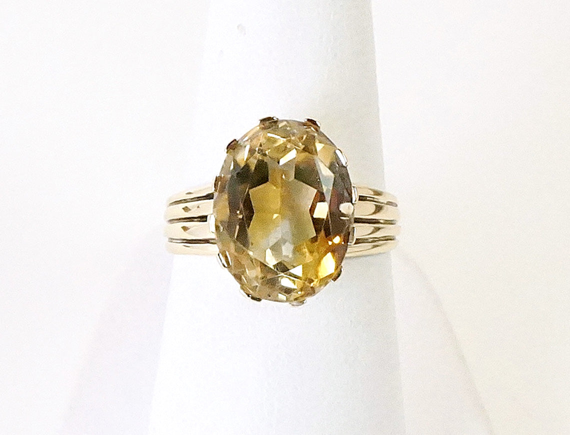 Unique citrine ring
