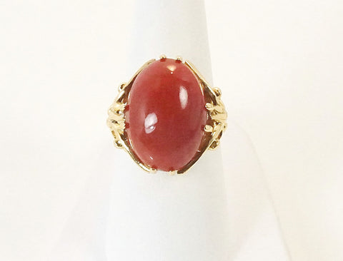 Oxblood coral ring