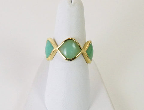 Band of green chalcedony