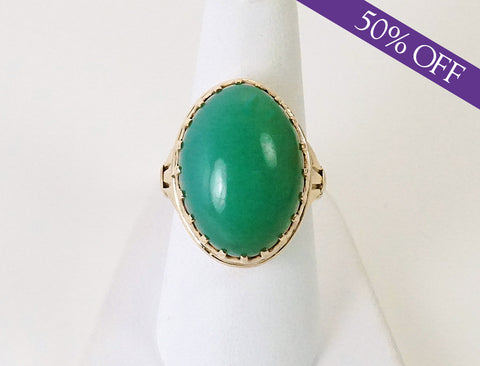 Green chalcedony cabochon - ORIGINAL PRICE: $1275