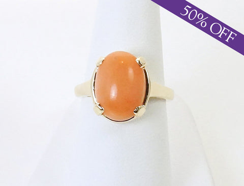 Salmon coral ring - ORIGINAL PRICE: $495