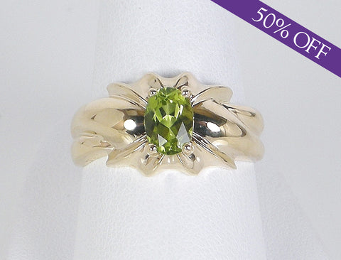 Peridot birthstone ring - ORIGINAL PRICE $360