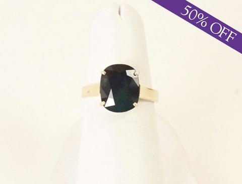3.30 carat cushion sapphire ring - ORIGINAL PRICE: $750