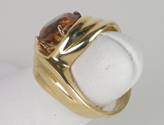 Golden tourmaline ring