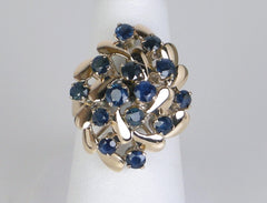Fun sapphire cluster ring